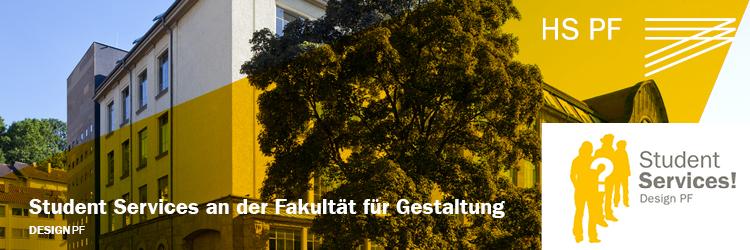 Kontakt und Anmeldung Student Services Design PF